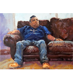 Waiting Room Blues 14 x18 Oil on Linen