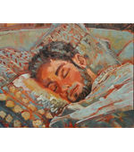 Adam Sleeping 11x14 oil on canvas Private Collection