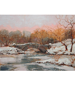 Central Park Snow NYC 12x16 ** SOLD **