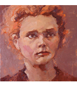 Nobel Marie Curie 8x8 oil on canvas