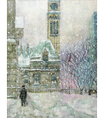 Old Toronto in the Snow 12x16 ** SOLD **