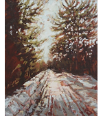 Snowy Road 16x20 SOLD