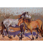 Two Horses 20 x 16  6 oil on canvas final